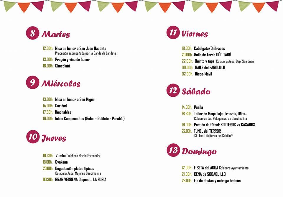 Programa de fiestas 2017 - 2