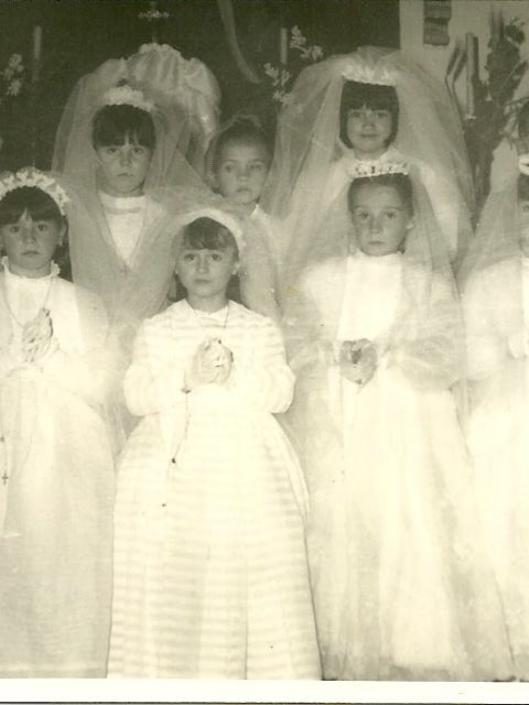Rosa, Juliana, Pili, Montse, Julia, Felisa, Paquita, Manolo y Agustín